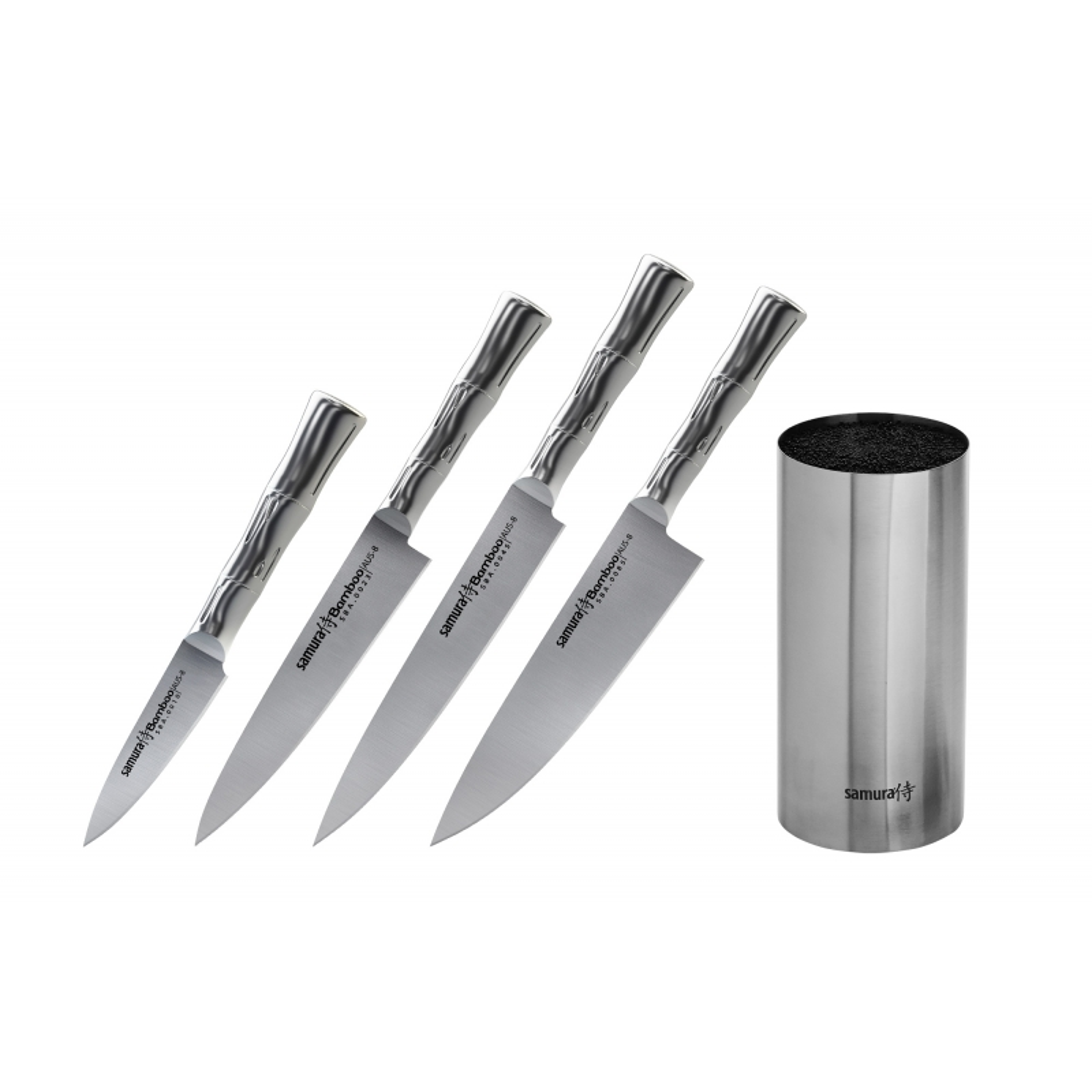 Комплект 4 ножей Samura BAMBOO, HRC 58