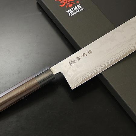 Kanetsune Zen-Bokashi нож НАКИРИ, 165 мм, 11 слоев, 61-62 HRC