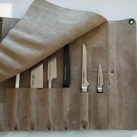 Kожаная скрутка для ножей SAMURA