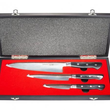 Samura PRO-S 3 ножей в подарочной коробке, 58 HRC