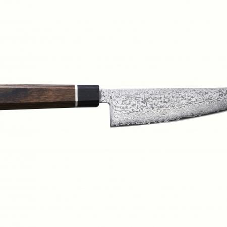 Senzo Black маленький японский поварский нож САНТОКУ, 143 мм