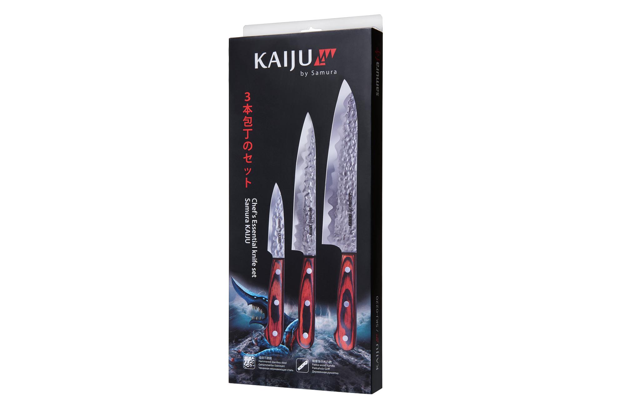 Samura Kaiju 3 noa komplekt, HRC 59