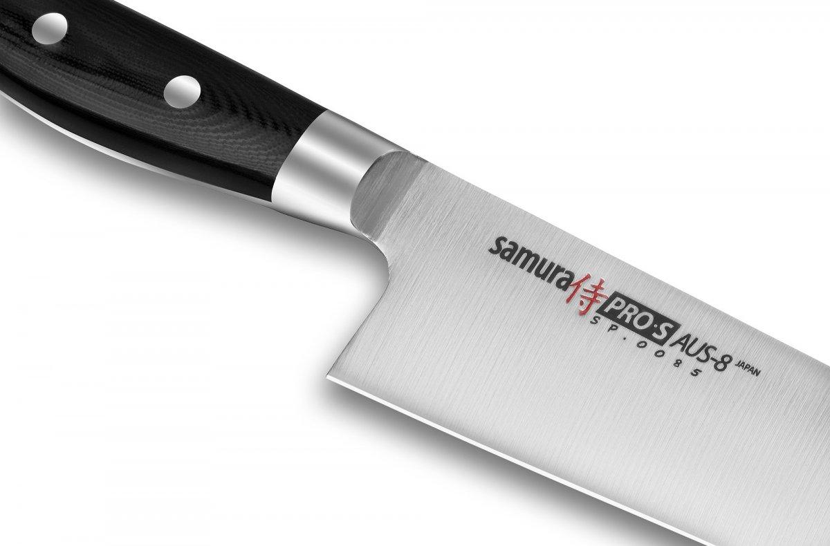 Samura PRO-S gyuto peakoka nuga 200 mm, 58 HRC
